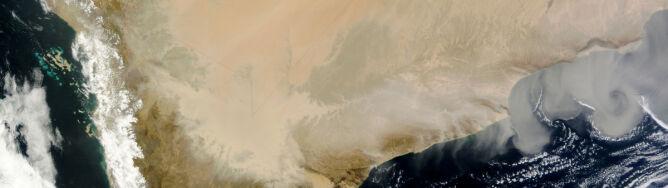 Piaskowy wir na Półwyspie Arabskim