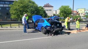 Wypadek z udziałem auta kandydata na prezydenta