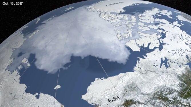 Ludzkość stąpa po cienkim lodzie. Zobacz, jak w ciągu 35 lat topniała Arktyka