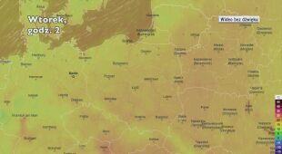 Prognozowana temperatura w następnych dniach (Ventusky.com)