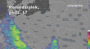 Prognozowane opady w najbliższych dniach (Ventusky.com) | wideo bez dźwięku