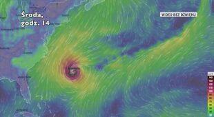 Porywy wiatru w huraganie Humberto | wideo bez dźwięku